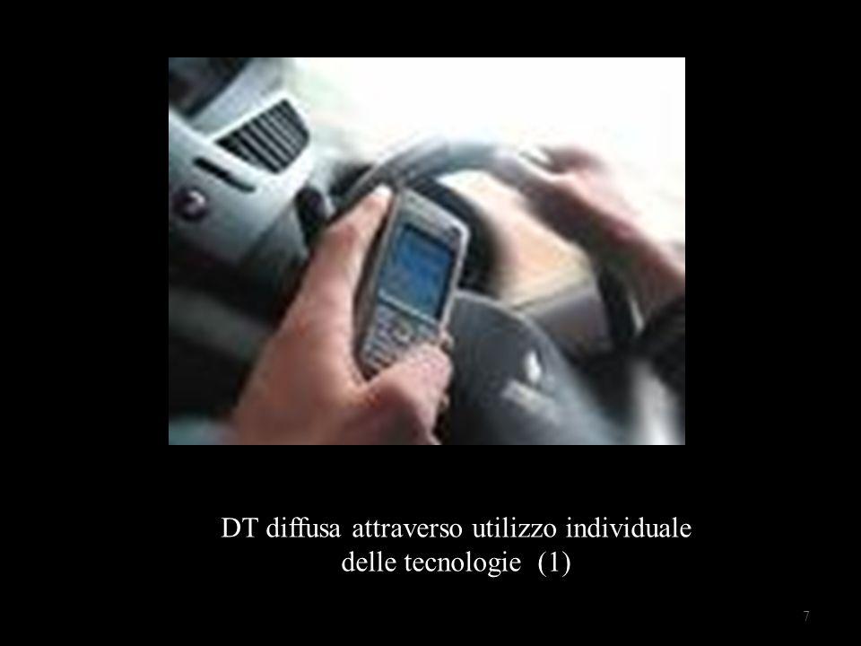 Uso individuale delle tecnologie DT diffusa attraverso utilizzo individuale delle tecnologie (1) 7