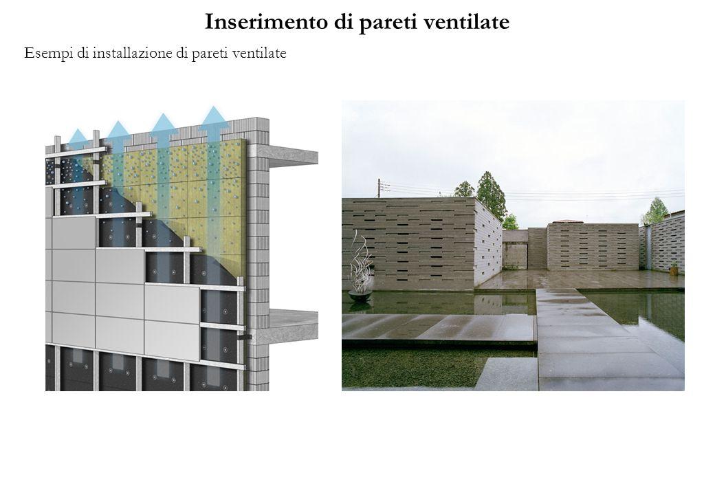 Inserimento di pareti ventilate Esempi di installazione di pareti ventilate