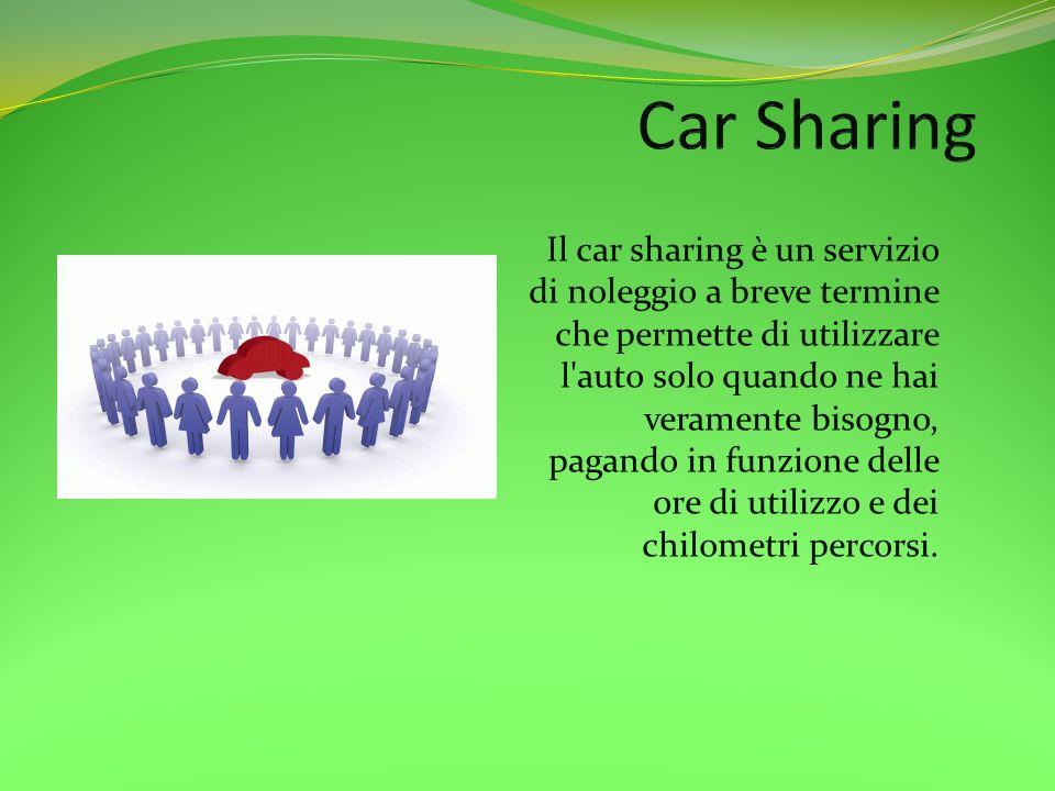 Il car sharing è un servizio di noleggio a breve termine che permette di utilizzare l'auto solo quando ne hai veramente bisogno, pagando in funzione d