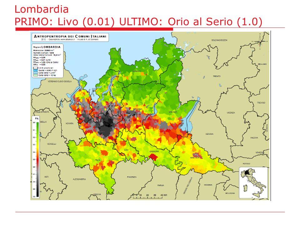 Lombardia PRIMO: Livo (0.01) ULTIMO: Orio al Serio (1.0)