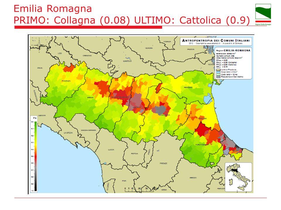 Emilia Romagna PRIMO: Collagna (0.08) ULTIMO: Cattolica (0.9)