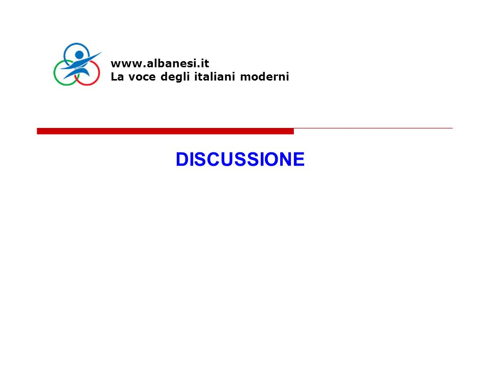 DISCUSSIONE www.albanesi.it La voce degli italiani moderni