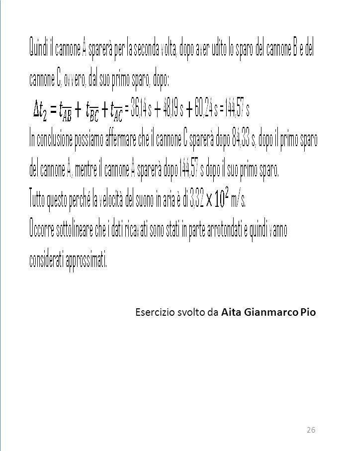 Esercizio svolto da Aita Gianmarco Pio 26