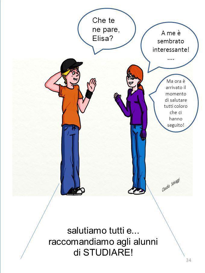Che te ne pare, Elisa.A A me è sembrato interessante!....