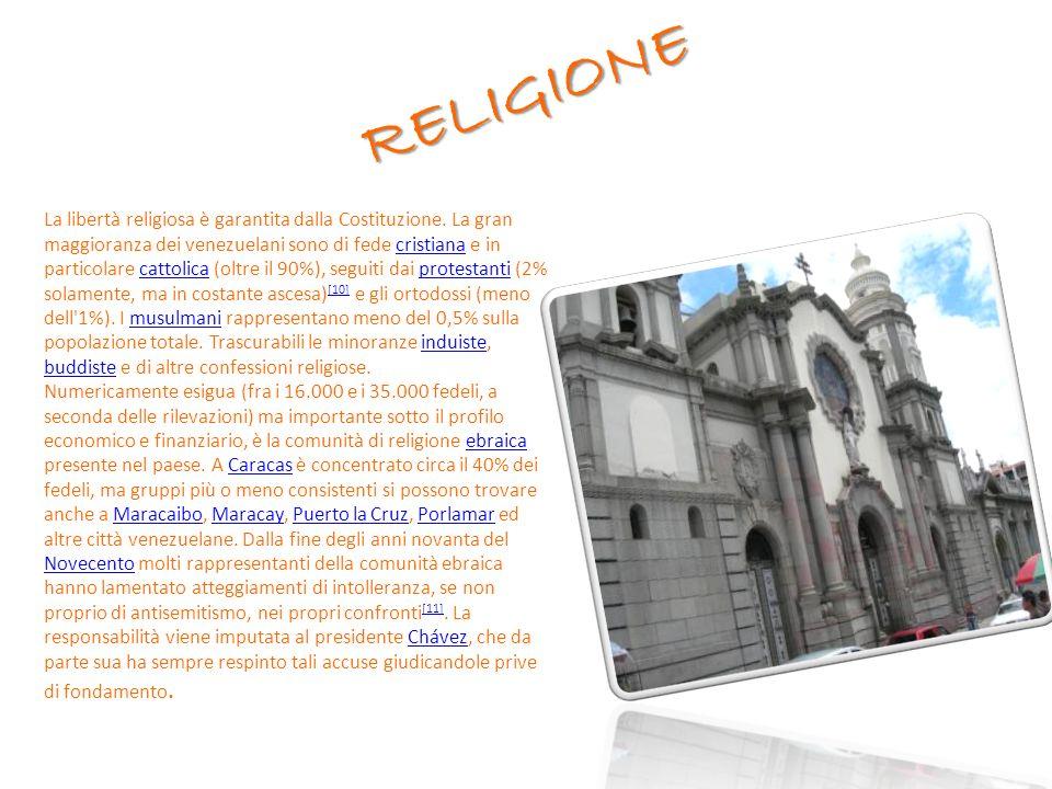 RELIGIONE La libertà religiosa è garantita dalla Costituzione.