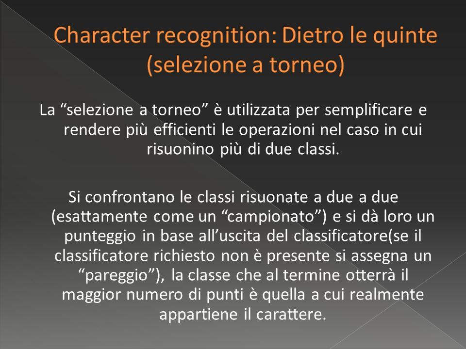 La selezione a torneo è utilizzata per semplificare e rendere più efficienti le operazioni nel caso in cui risuonino più di due classi.