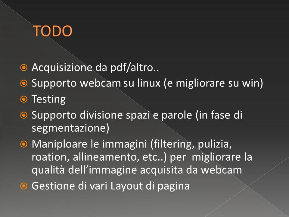 Acquisizione da pdf/altro..