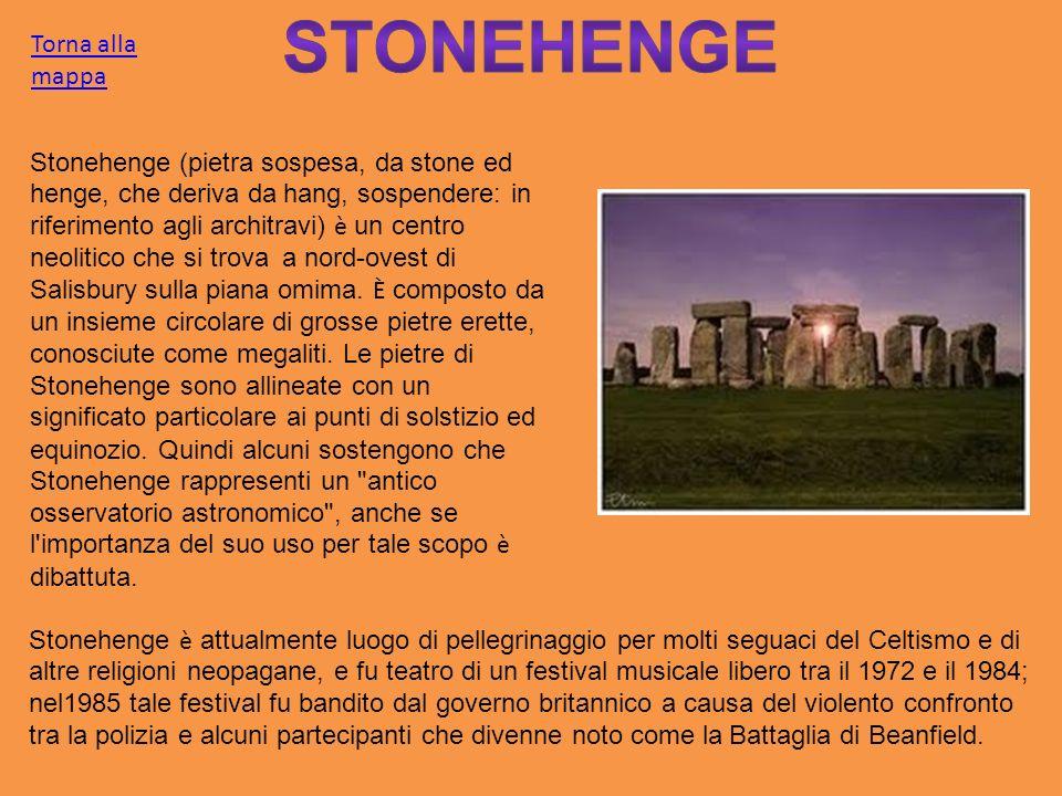 Stonehenge (pietra sospesa, da stone ed henge, che deriva da hang, sospendere: in riferimento agli architravi) è un centro neolitico che si trova a no
