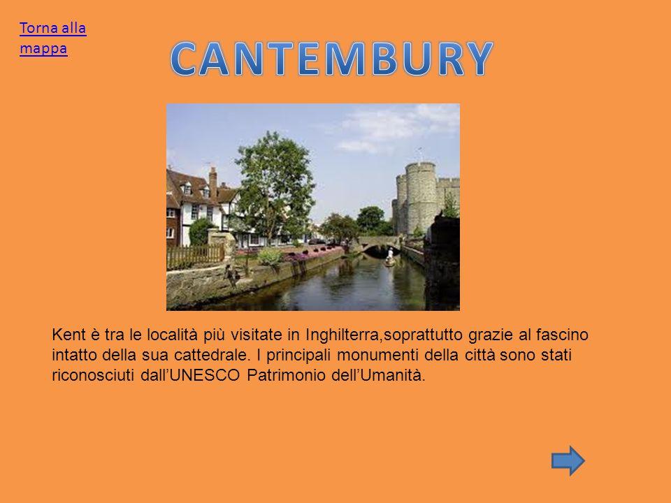 Kent è tra le località più visitate in Inghilterra,soprattutto grazie al fascino intatto della sua cattedrale. I principali monumenti della città sono