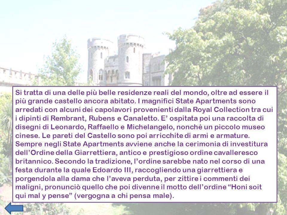 Si tratta di una delle più belle residenze reali del mondo, oltre ad essere il più grande castello ancora abitato. I magnifici State Apartments sono a