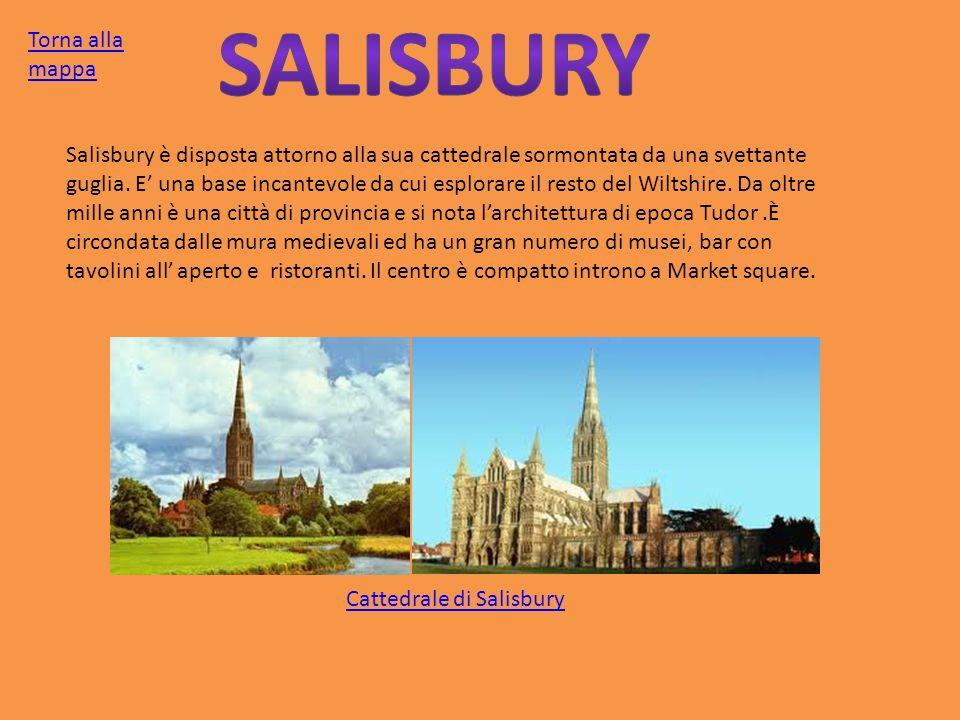 Salisbury è disposta attorno alla sua cattedrale sormontata da una svettante guglia. E una base incantevole da cui esplorare il resto del Wiltshire. D