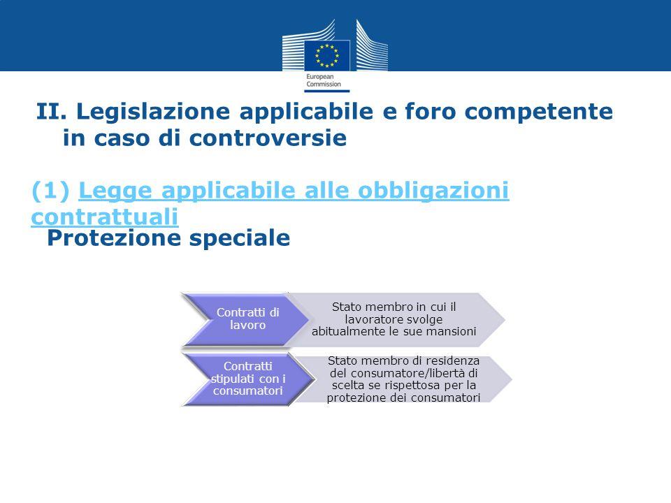 Contratti di lavoro Contratti stipulati con i consumatori Stato membro di residenza del consumatore/libertà di scelta se rispettosa per la protezione