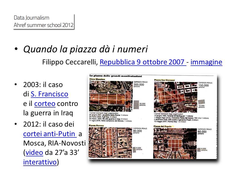 Quando la piazza dà i numeri Filippo Ceccarelli, Repubblica 9 ottobre 2007 - immagineRepubblica 9 ottobre 2007 immagine 2003: il caso di S. Francisco