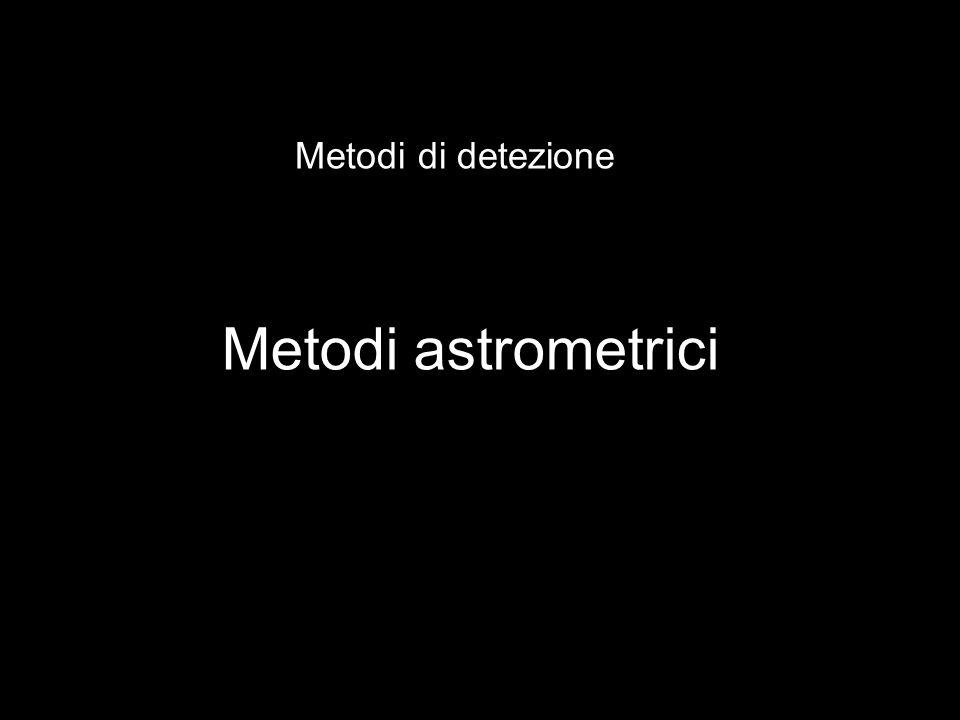 Metodi astrometrici Metodi di detezione