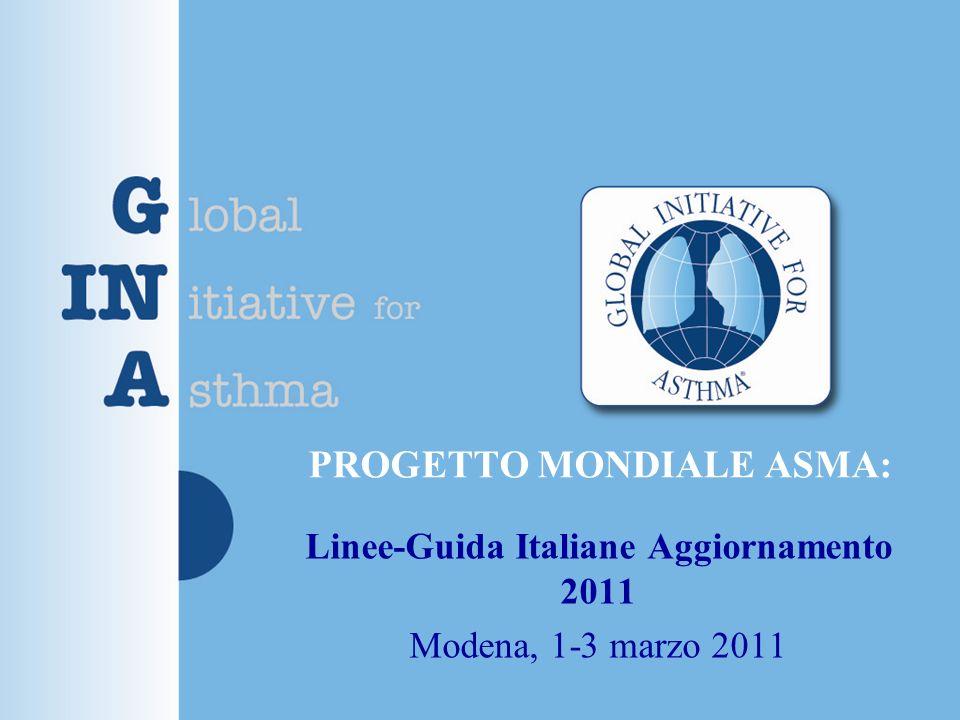 PROGETTO MONDIALE ASMA: Linee-Guida Italiane Aggiornamento 2011 Modena, 1-3 marzo 2011