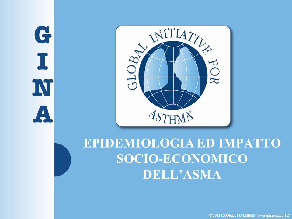 EPIDEMIOLOGIA ED IMPATTO SOCIO-ECONOMICO DELLASMA 12 © 2011 PROGETTO LIBRA www.ginasma.it
