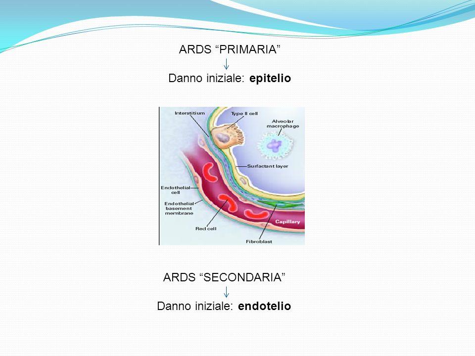 ARDS PRIMARIA Danno iniziale: epitelio ARDS SECONDARIA Danno iniziale: endotelio