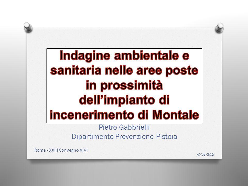 Pietro Gabbrielli Dipartimento Prevenzione Pistoia 12/06/2013 Roma - XXIII Convegno AIVI