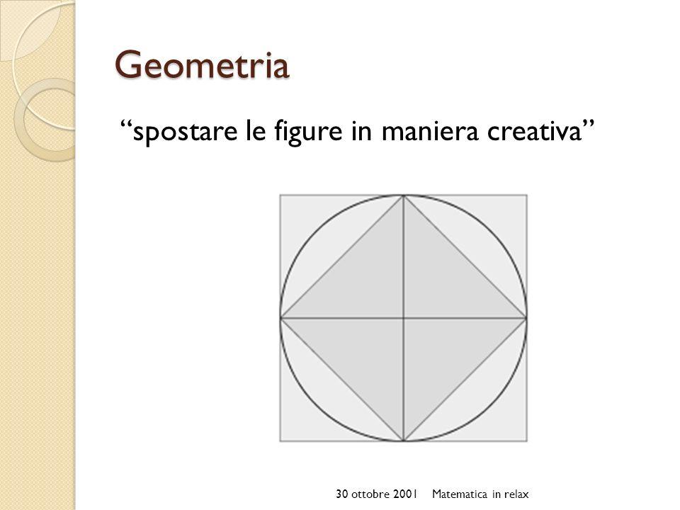 Geometria spostare le figure in maniera creativa 30 ottobre 2001Matematica in relax
