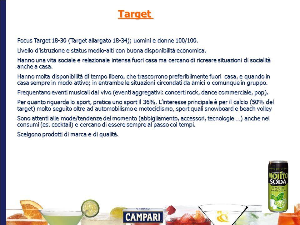 6 Target Focus Target 18-30 (Target allargato 18-34); uomini e donne 100/100.