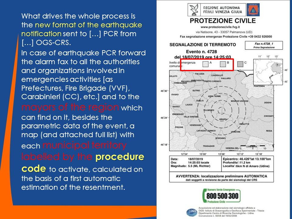 new format of the earthquake notification What drives the whole process is the new format of the earthquake notification sent to […] PCR from […] OGS-