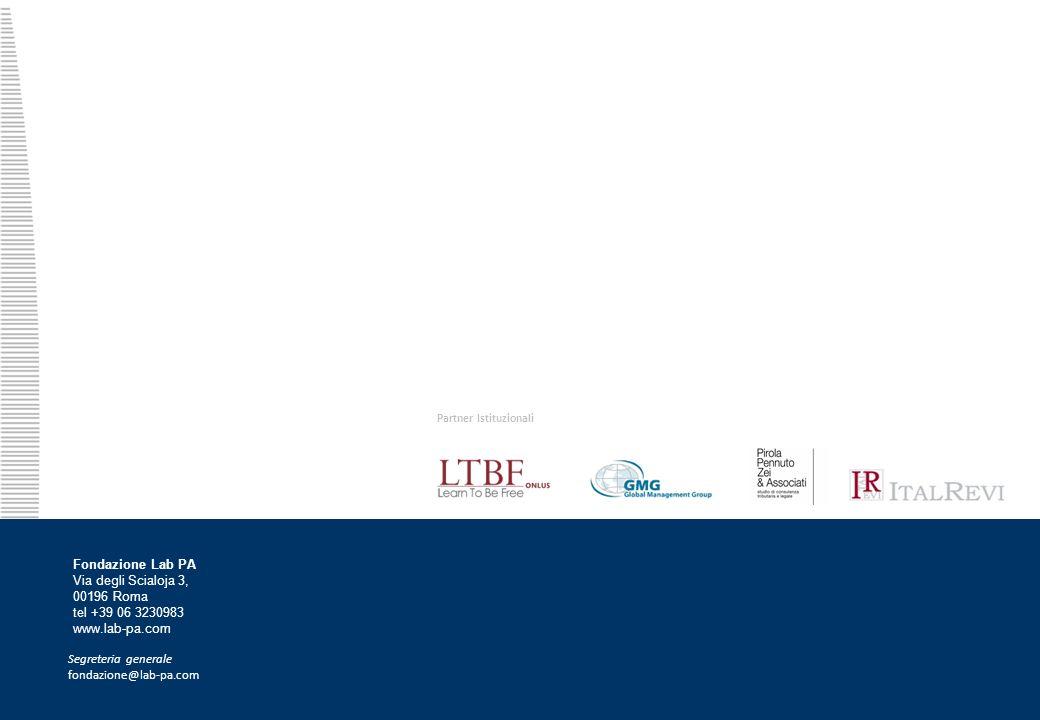 17 Partner Istituzionali Fondazione Lab PA Via degli Scialoja 3, 00196 Roma tel +39 06 3230983 www.lab-pa.com Segreteria generale fondazione@lab-pa.com