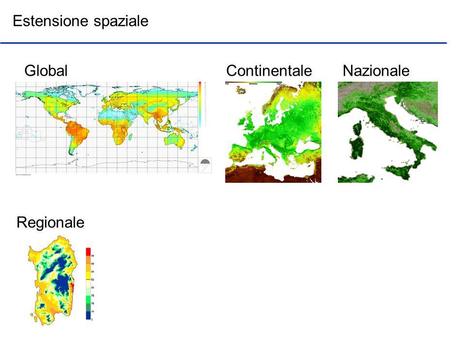 Estensione spaziale GlobalContinentaleNazionale Regionale