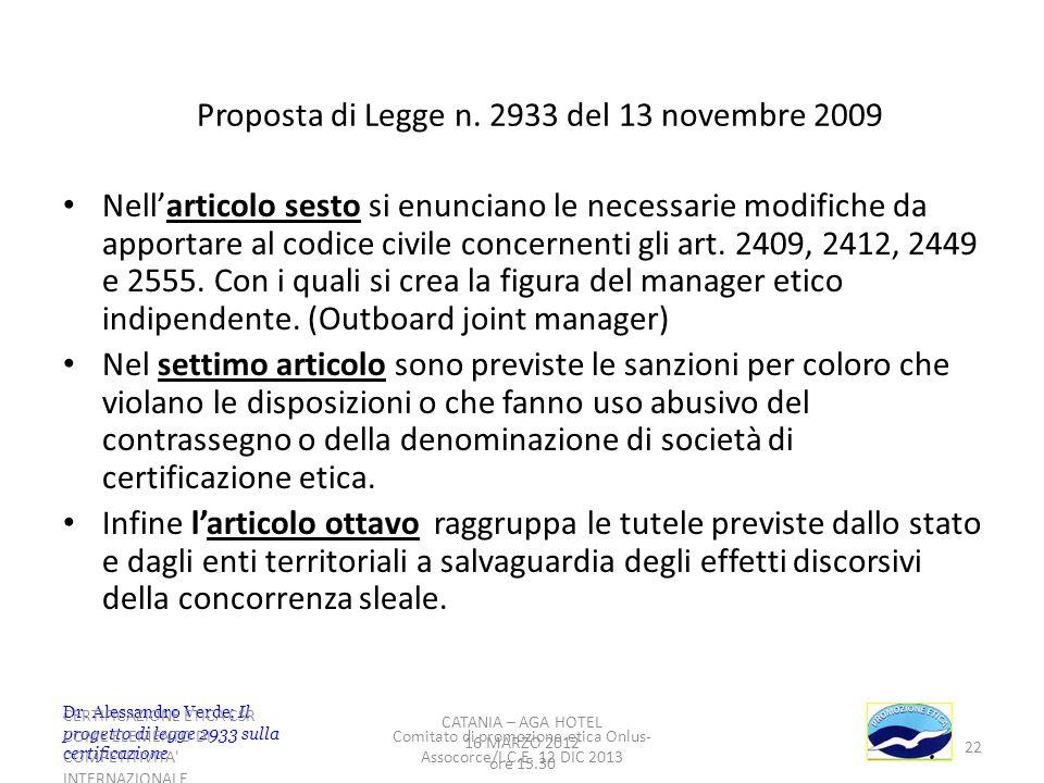 22 Nellarticolo sesto si enunciano le necessarie modifiche da apportare al codice civile concernenti gli art. 2409, 2412, 2449 e 2555. Con i quali si