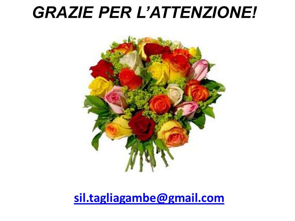 GRAZIE PER LATTENZIONE! sil.tagliagambe@gmail.com