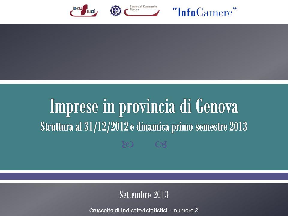 Cruscotto di indicatori statistici – numero 3 Settembre 2013