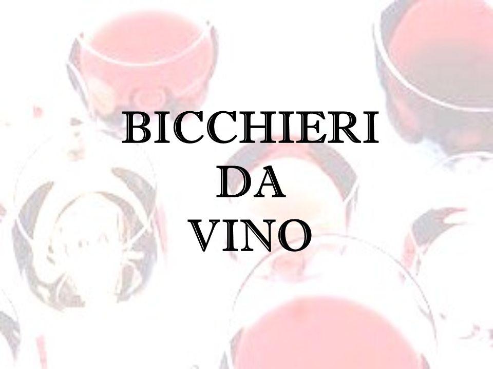 Lapprezzamento di un vino si esprime anche attraverso un corretto uso dei bicchieri, un insostituibile elemento che, unito a tutti gli altri, riesce a fare esprimere le qualità del vino.