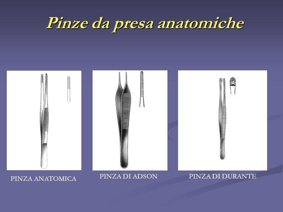 Pinze da presa anatomiche PINZA ANATOMICA PINZA DI DURANTEPINZA DI ADSON