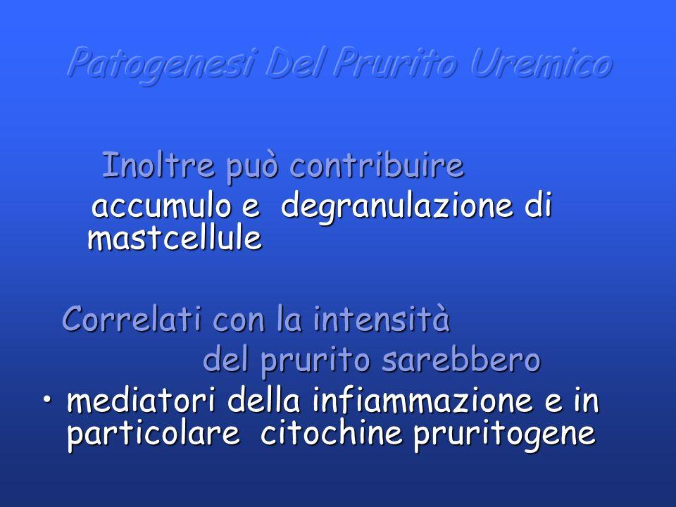 Inoltre può contribuire Inoltre può contribuire accumulo e degranulazione di mastcellule accumulo e degranulazione di mastcellule Correlati con la int
