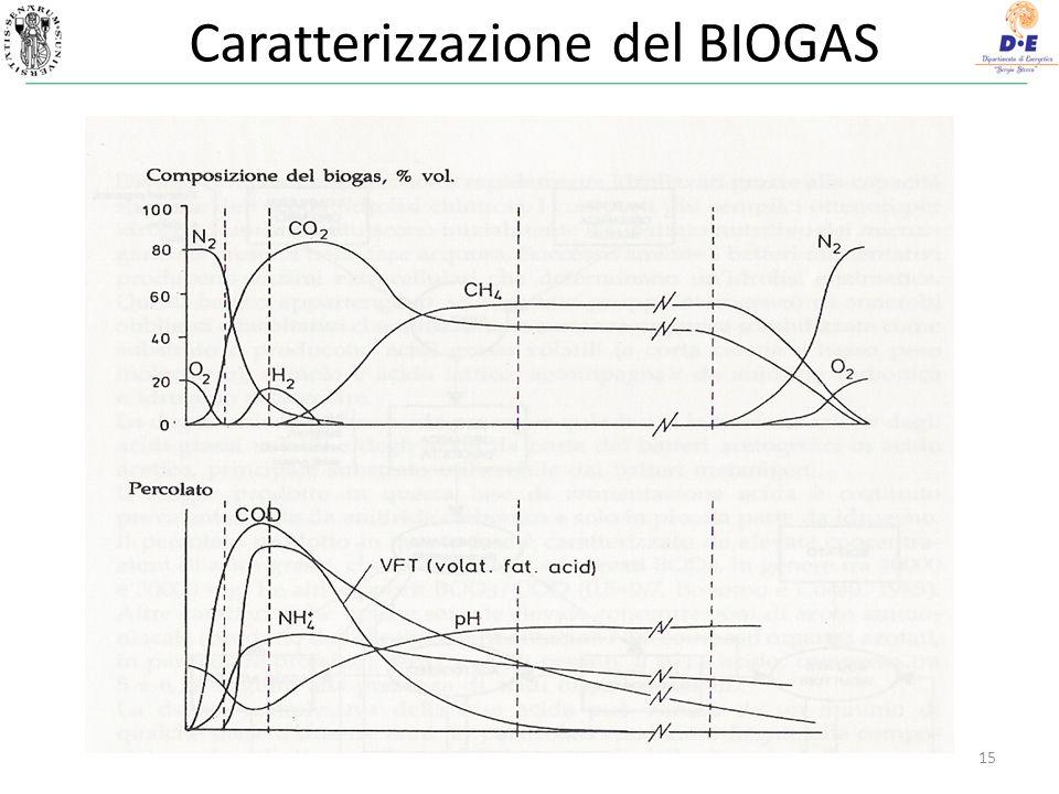 Caratterizzazione del BIOGAS 15