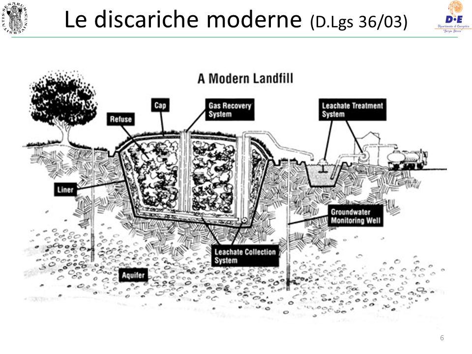 6 Le discariche moderne (D.Lgs 36/03)