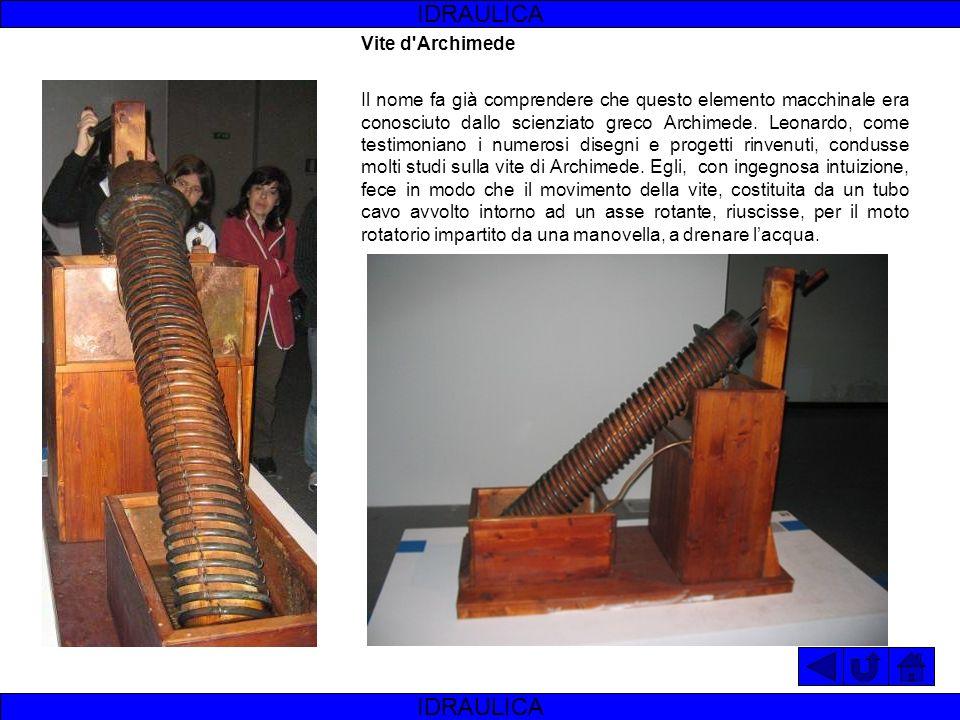 Ponte mobile Sono molteplici gli esempi di ponte mobile a rapido impiego che Leonardo disegna nel corso della sua carriera di ingegnere militare. IDRA