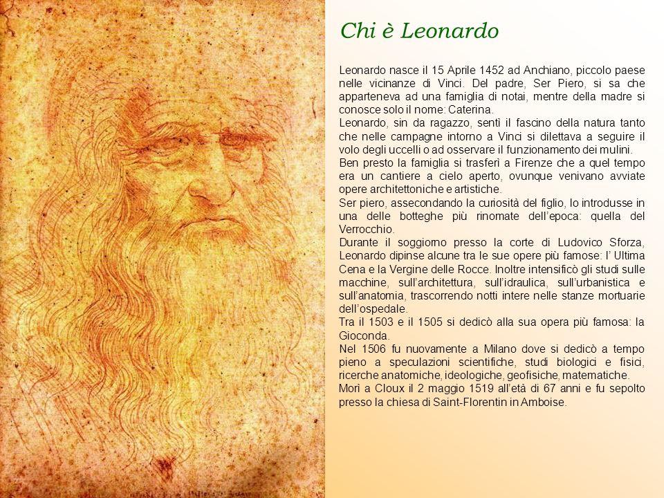 Chi è Leonardo Leonardo nasce il 15 Aprile 1452 ad Anchiano, piccolo paese nelle vicinanze di Vinci.