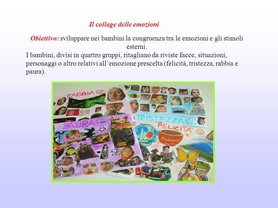 Obiettivo: sviluppare nei bambini la congruenza tra le emozioni e gli stimoli esterni.