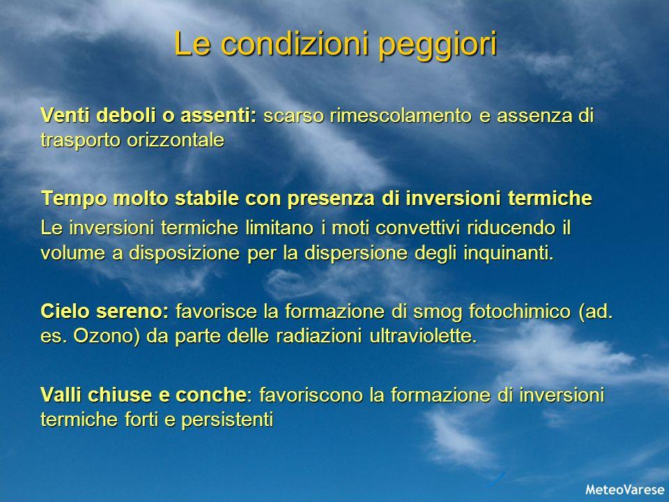 Previsione = Prevenzione Sono stati sviluppati dei modelli per la previsione delle concentrazioni di inquinanti in atmosfera.