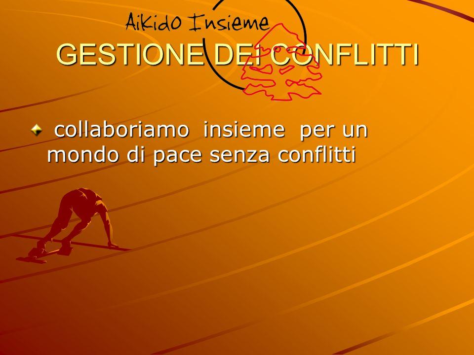 GESTIONE DEI CONFLITTI collaboriamo insieme per un mondo di pace senza conflitti collaboriamo insieme per un mondo di pace senza conflitti