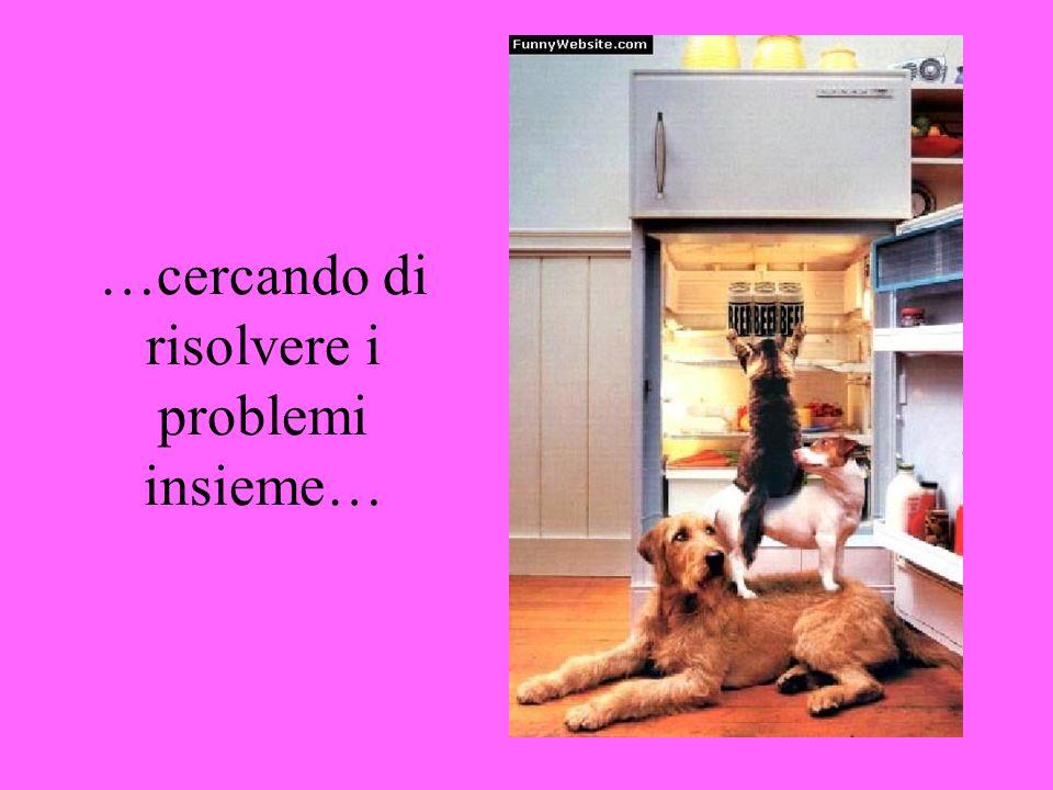 …cercando di risolvere i problemi insieme…