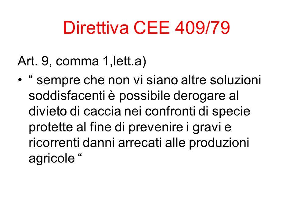 Direttiva CEE 409/79 Art.
