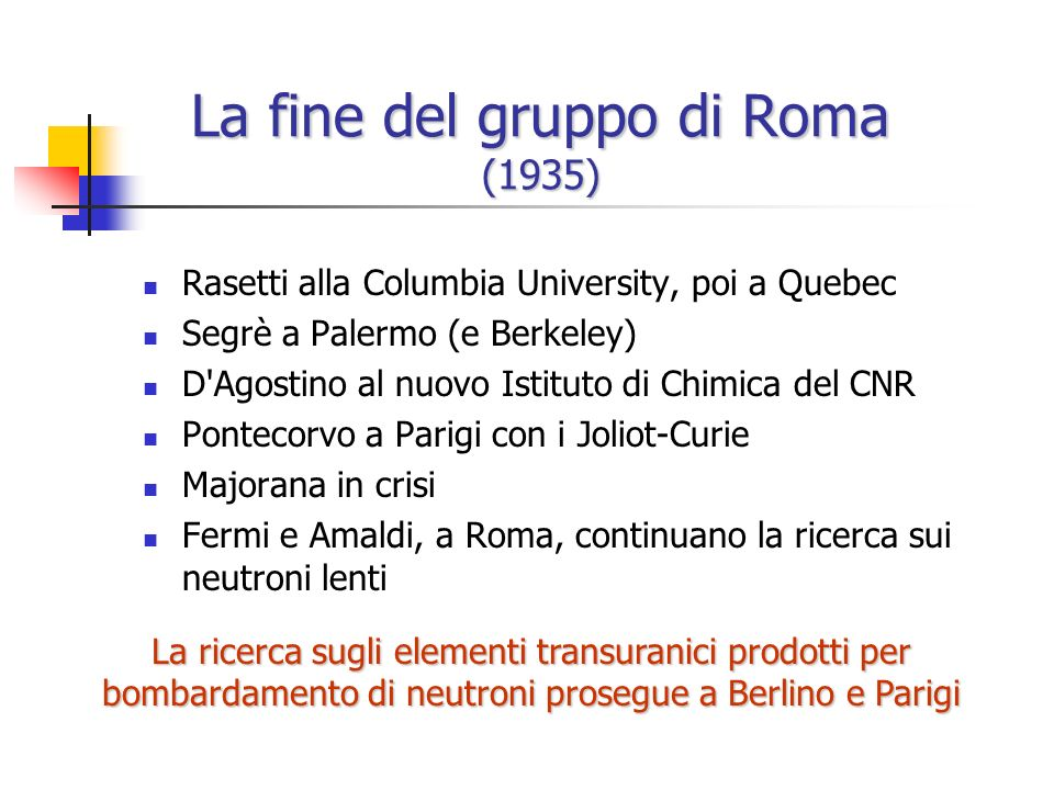 Il problema delluranio n Varie sostanze radioattive Elementi transuranici.