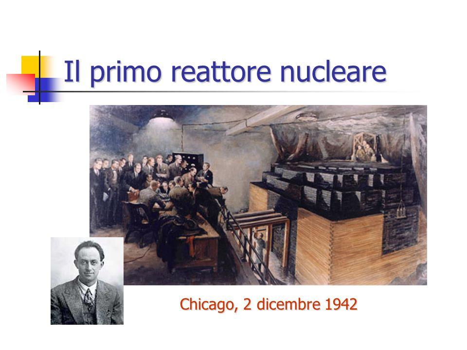 La costruzione della bomba (Metallurgical Laboratory, Chicago) Arthur Compton Enrico Fermi Progettazione di una macchina per la produzione di plutonio