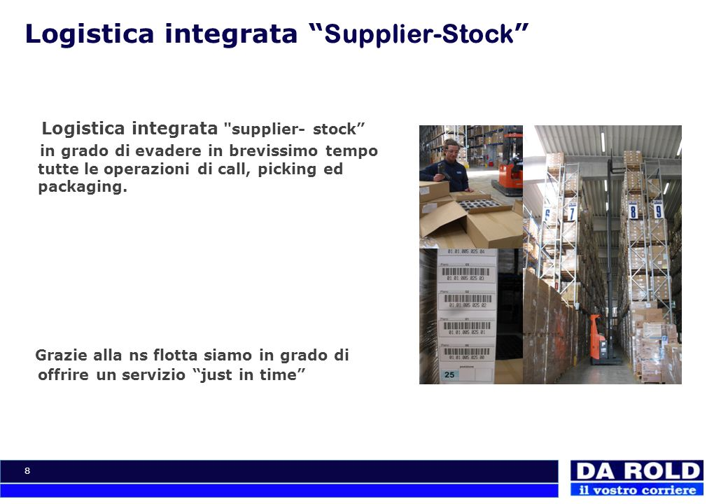 8 Logistica integrata Supplier-Stock Logistica integrata