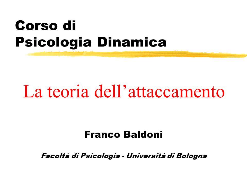 Corso di Psicologia Dinamica Franco Baldoni Facoltà di Psicologia - Università di Bologna La teoria dellattaccamento