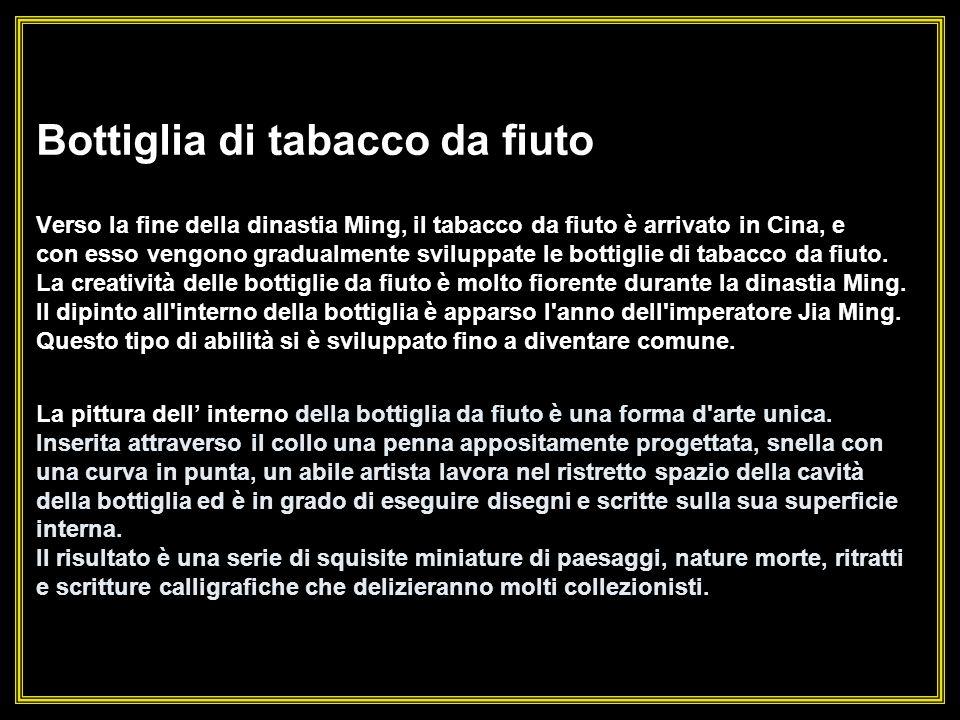 Pittura artistica allinterno delle bottiglie di tabacco da fiuto Pittura artistica allinterno delle bottiglie di tabacco da fiuto