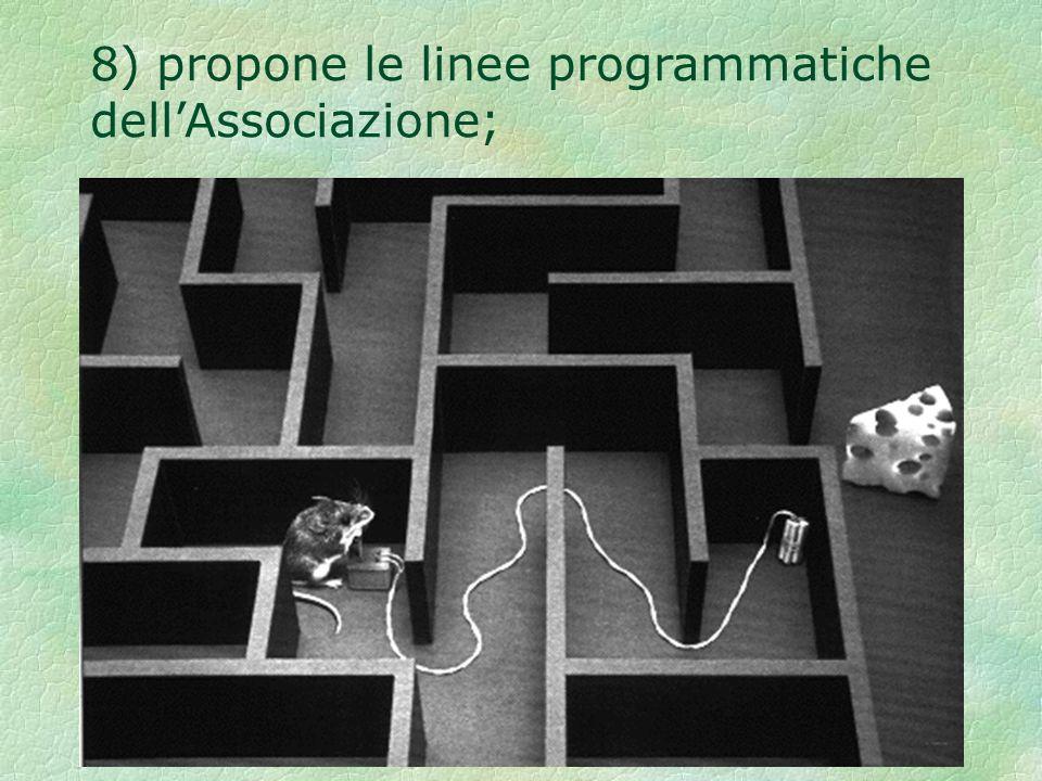 8) propone le linee programmatiche dellAssociazione;