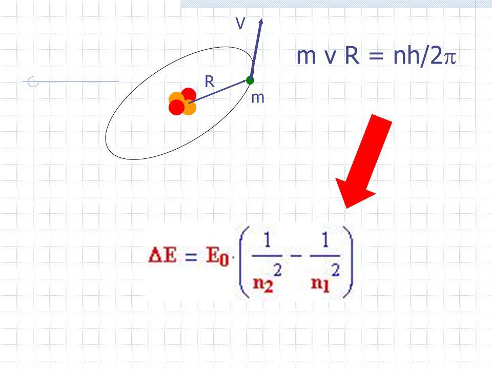 V m R m v R = nh/2