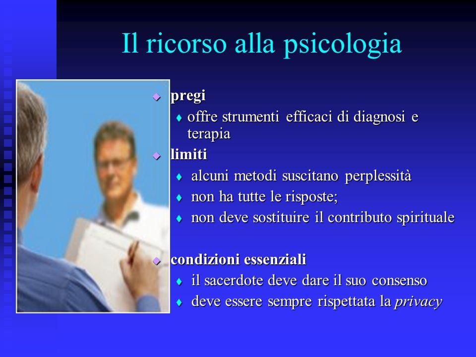 Il ricorso alla psicologia pregi offre strumenti efficaci di diagnosi e terapia limiti alcuni metodi suscitano perplessità non ha tutte le risposte; n